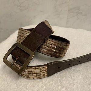 Nine West brown /gold leather belt